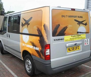 Vehicle Wrap for Airport Taxi