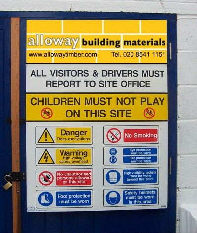Personalised Health & Safety Site Sign
