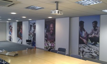 Full colour wall photos printed on dibond