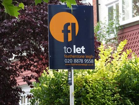 Portrait estate agent board - Featherstone Leigh