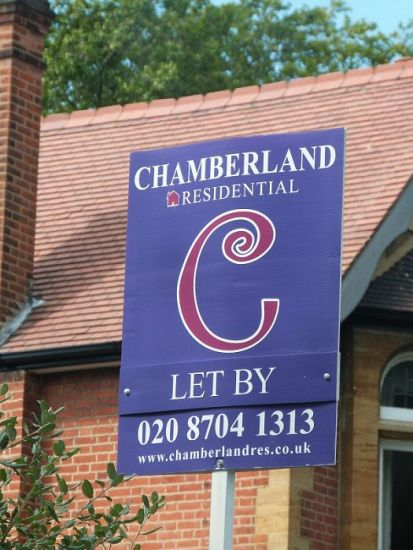 Portrait estate agent board - Chamberland Residential