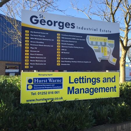 Industrial Estate Entrance Sign